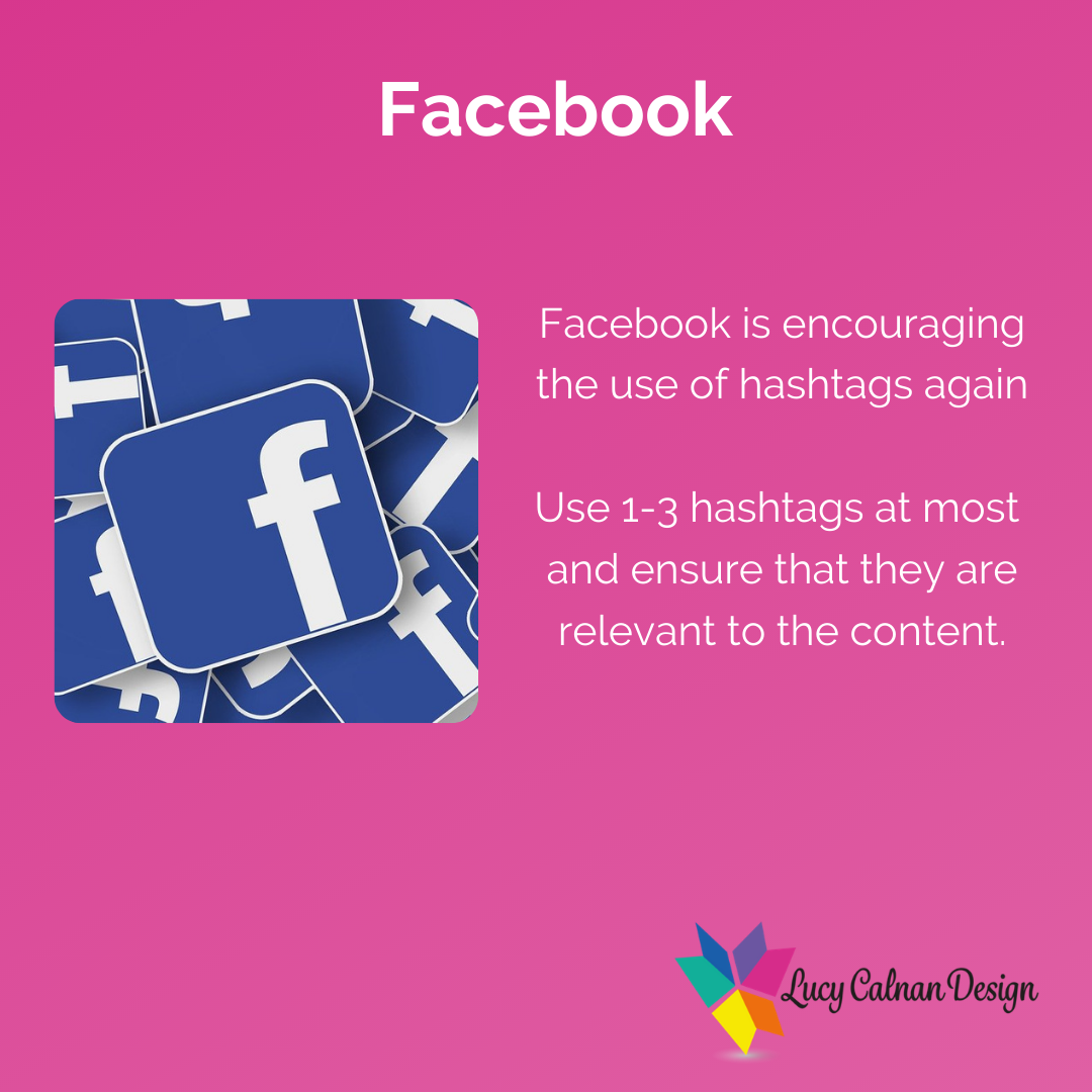 Advice for hashtag usage on Facebook