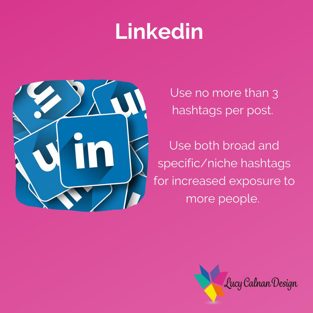 Linkedin hashtag advice
