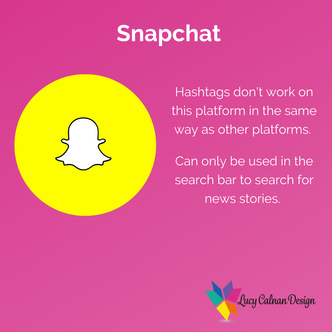Advice for hashtag usage Snapchat