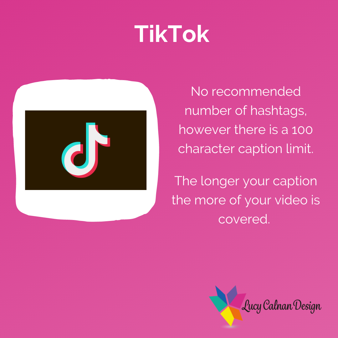 Advice for hashtag usage TikTok